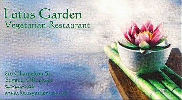 Lotus Garden Vegetarian Restaurant All Vegan 810 Charnelton St Eugene Or 541 344 1928 Www Lotusgardenveg